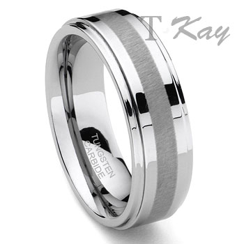HARLEQUIN Tungsten Carbide Wedding Band Ring