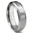 Titanium 7mm Concave Edge Wedding Band Ring