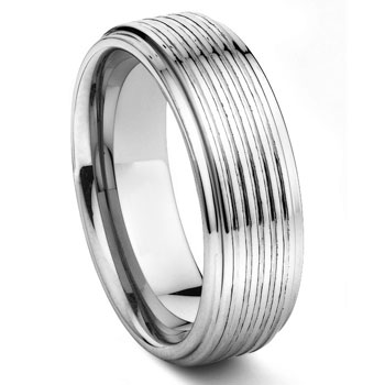 MEDICI Tungsten Carbide Wedding Band Ring