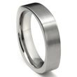Titanium 6mm Satin Finish Square Wedding Band Ring
