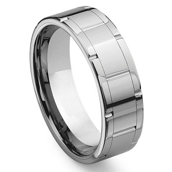 IGNITUS Tungsten Carbide Wedding Band Ring