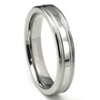 Titanium 4mm Milgrain Flat Wedding Band Ring