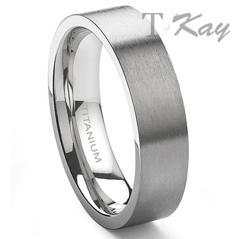 Titanium 6mm Wedding Band Ring