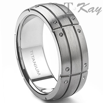 SPARTAN Titanium 9mm Men's Band Ring