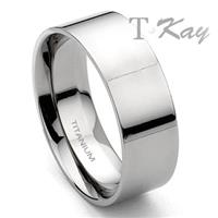 Titanium Wedding Band Ring