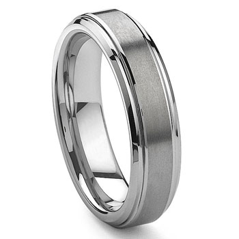 ICARUS Tungsten Carbide Wedding Band Ring