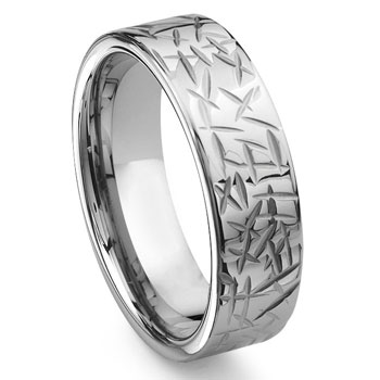 ARMOR Tungsten Carbide Wedding Band Ring