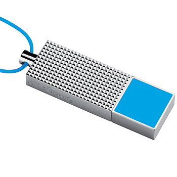 ST Dupont 2GB USB Blue Lacqer Flash Drive Key