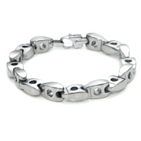 Men's 10MM Titanium Link Bracelet