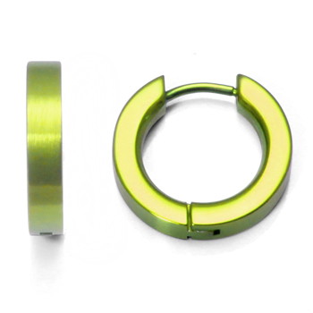 Yellow Anodized Titanium Huggie Earrings