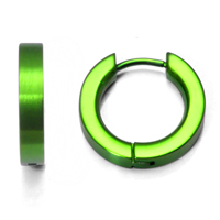 Green Anodized Titanium Huggie Earrings