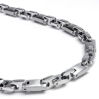 FIRMATO Stainless Steel Men's Link Necklace Chain