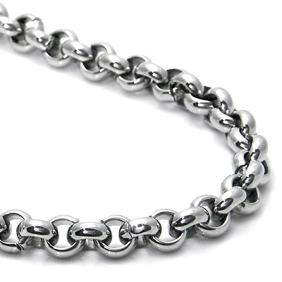 Titanium 6MM Rolo Men's Necklace Chain