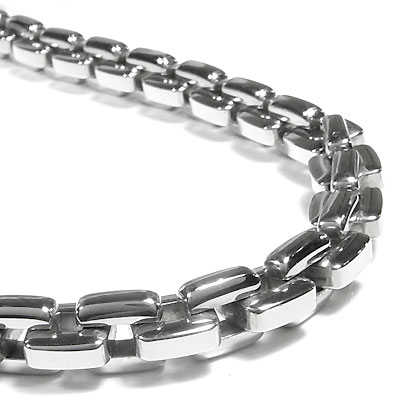 Stainless Steel Men's Large Box Link Necklace Chain