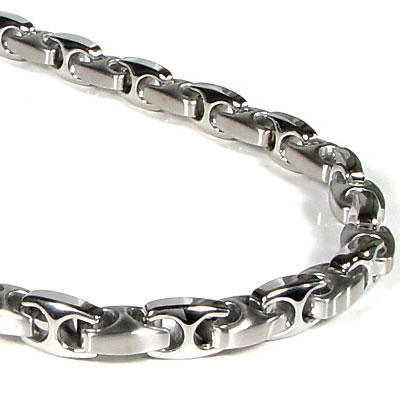 Nitrogen Stainless Steel Men's Link Necklace Chain