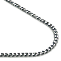 Titanium 4MM Curb Necklace Chain