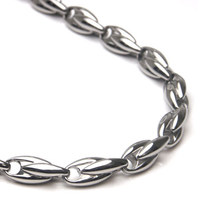 Titanium Men's 5MM Link Necklace Chain