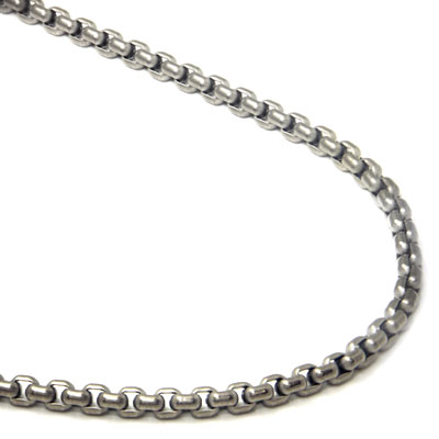 Titanium 4MM Box Link Necklace Chain