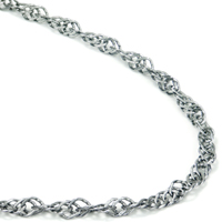 Titanium 3.5MM Singapore Necklace Chain