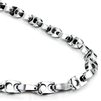 Tungsten Carbide 8MM Manhattan Link Necklace Chain
