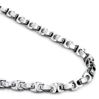 Tungsten Carbide 7MM Marina Link Necklace Chain
