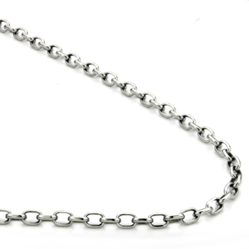 Titanium 4MM Oval Link Necklace Chain