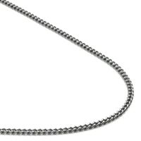 Titanium 2MM Round Curb Necklace Chain