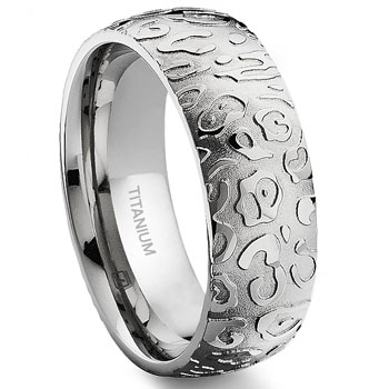 7 Degree JAGUAR SKIN Titanium Band Ring