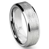 Cobalt XF Chrome 8MM Italian Di Seta Finish Wedding Band Ring