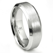 Cobalt XF Chrome 8MM Italian Di Seta Finish Raised Center Wedding Band Ring
