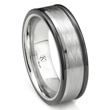 Cobalt XF Chrome 8MM Italian Di Seta Finish Two Tone Wedding Band Ring