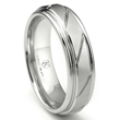 Cobalt XF Chrome 8MM Diamond Cut Ribbed Wedding Band Ring
