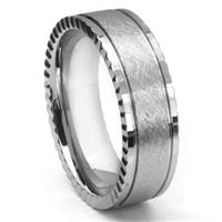 Tungsten Carbide Newport Di Seta Finish Wedding Band Ring
