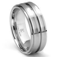 Cobalt XF Chrome 9MM Matte Finish Wedding Band Ring