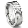 Cobalt XF Chrome 9MM Hammer Finish Wedding Band Ring