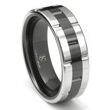 Cobalt XF Chrome 8MM Two-Tone High Polish Wedding Band Ring