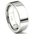 Cobalt XF Chrome 8MM High Polish Flat Wedding Band Ring