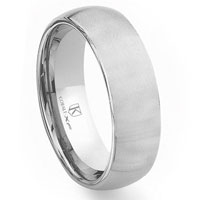 Cobalt XF Chrome 8MM Plain Brush Finish Dome Wedding Band Ring