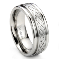 Titanium 8MM Celtic Knot Newport Wedding Band Ring