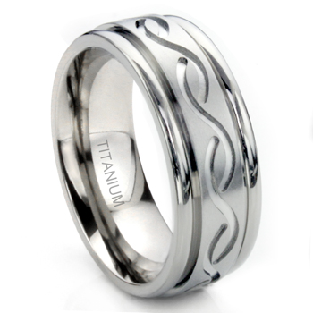 Titanium 8MM Celtic Newport Wedding Band Ring