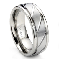 MACULATUS Titanium 8MM Newport Wedding Band Ring