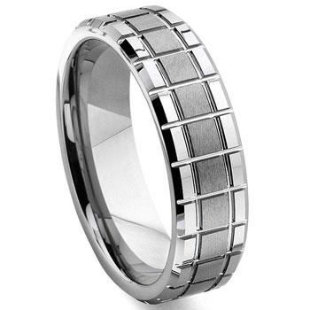 tungsten carbide mechanic design wedding band ring - Design Wedding Ring