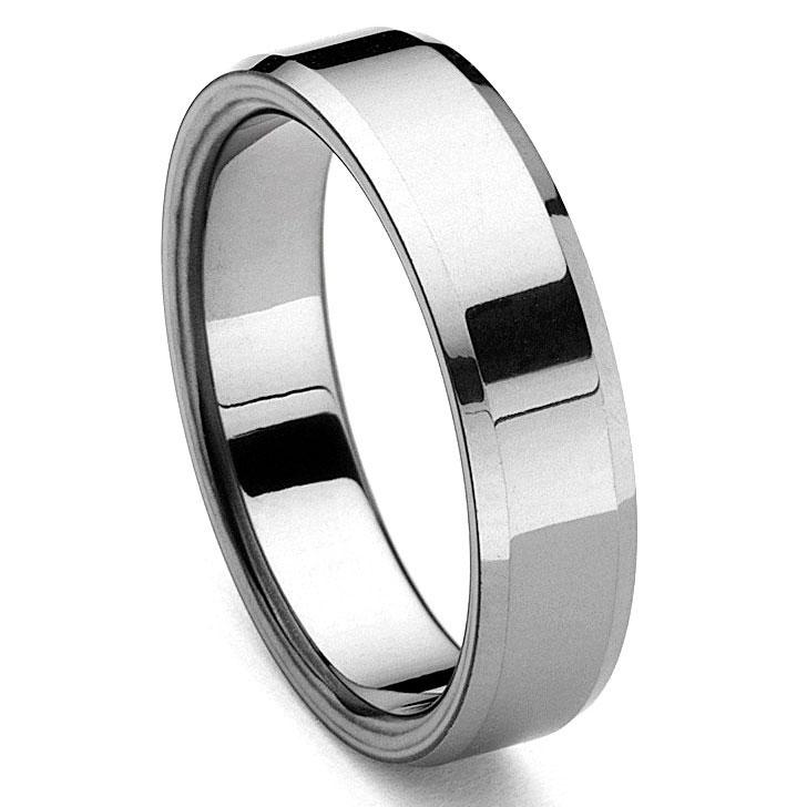 piattoe tungsten carbide men s wedding ring - Tungsten Carbide Wedding Rings