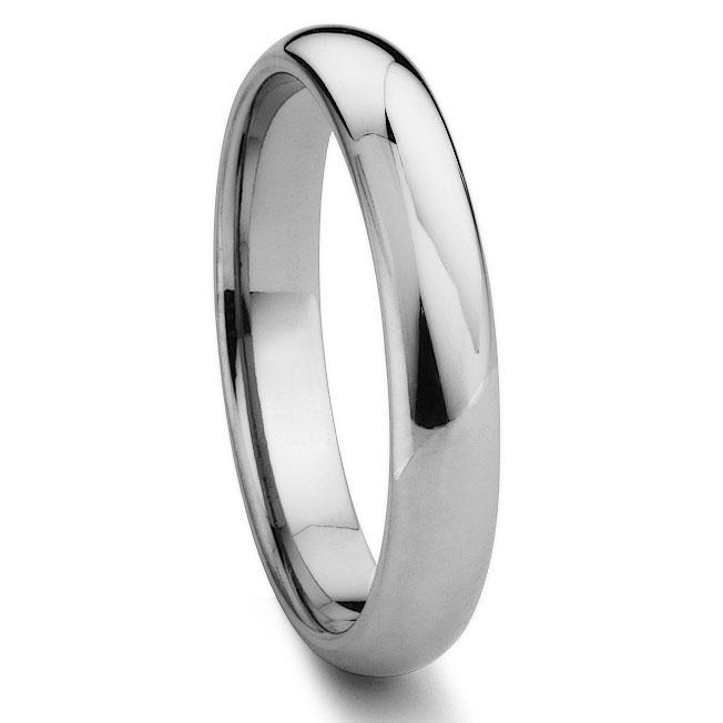 Top DEVON Tungsten Carbide 4MM Plain Dome Wedding Band QA53