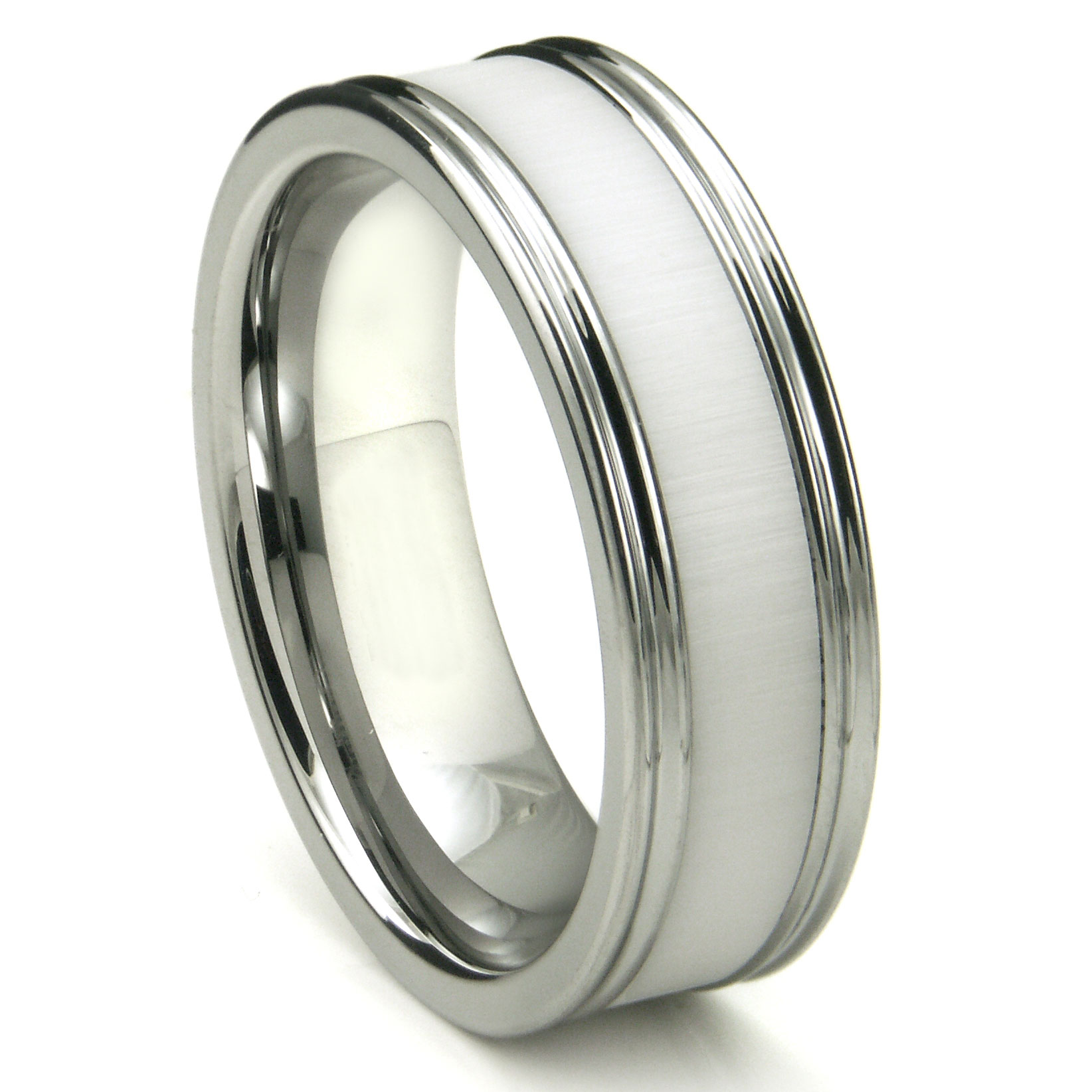 Loading Zoom You May Also Like Tungsten Carbide Crimson Riverstone Inlay Wedding Band Ring
