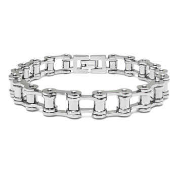 Titanium High Polish Bike Link Bracelet