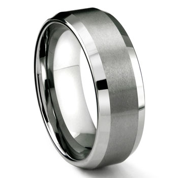 RASORET Tungsten Carbide Ring in Comfort Fit and Satin Finish