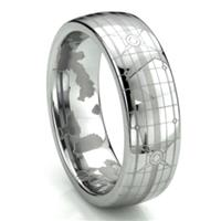 HALO Tungsten Carbide Men's Plain Dome Wedding Band