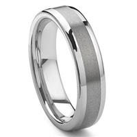 KOZMA Tungsten Carbide Wedding Band Ring