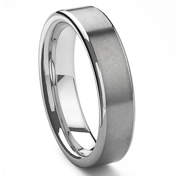 PROMETHEUS Tungsten Carbide Wedding Band Ring